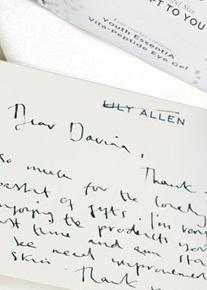 A note from Lily Allen